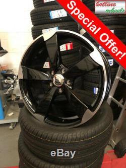 18 Roues Alliage Audi A3 A4 A6 A8 Tt VW Golf Passat Seat Skoda 5x112 Rotor Style