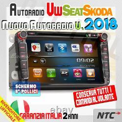 Car Radio 8 + Cartes VW Golf 5 6 Gti, New Beetle, Passat, Cc, Tiguan, Touran