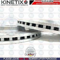 Perforé kinetix Frein avant Disques Audi S3 Vw Golf R Gti Passat Seat Leon 340mm