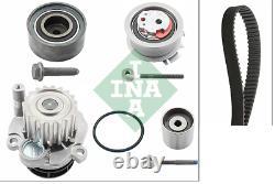 Pompe Eau + Set Sangles Distribution INA 530040530 Audi A3 A4 A6 VW Passat Golf