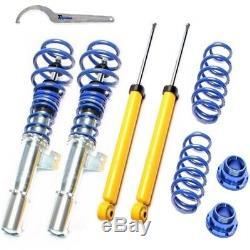 Ta Combinés Filetés Premium Bleu pour VW Golf 5 / Passat 3c / Audi A3 / Seat